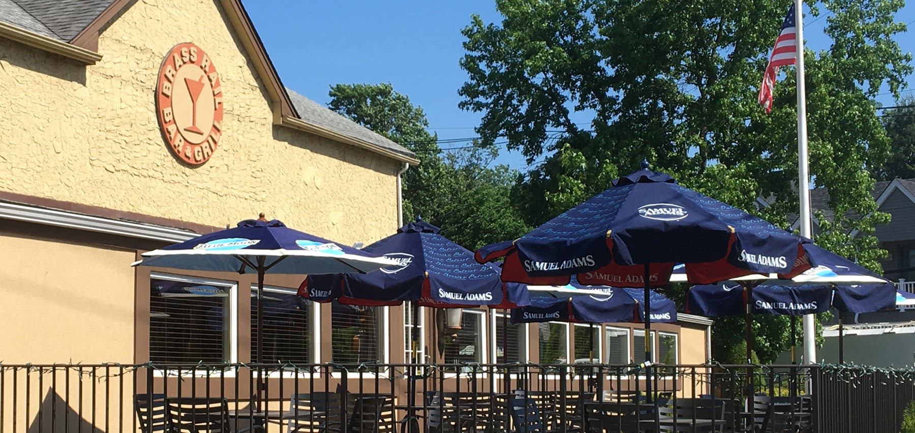patio dining at the Brass Rail Bar & Grill in Matawan